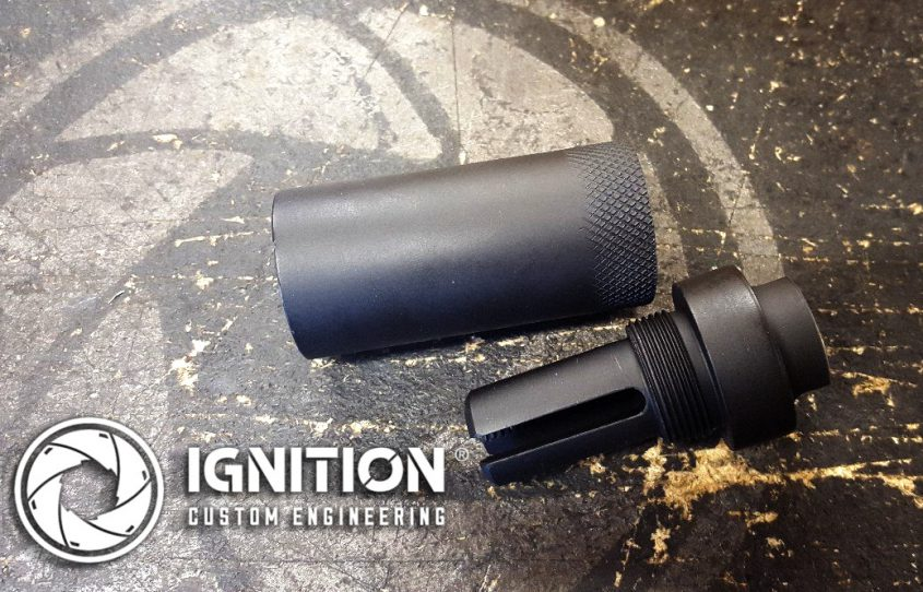 Reduces muzzle flash, ideal for night shooting and use with a thermal scope.