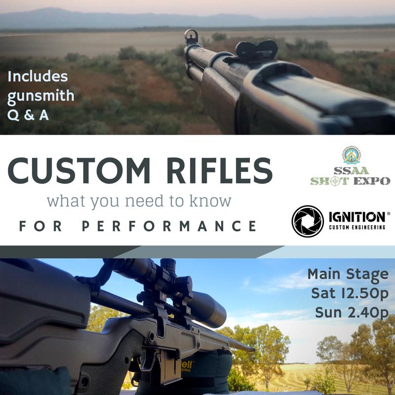 custom rifles for performance gunsmith talk shot show mel