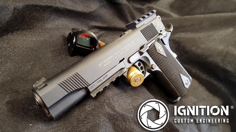 Colt 1911 custom pic rail Vortex Viper sights – Ignition Custom